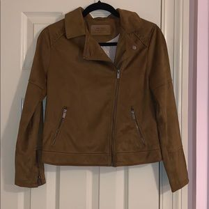 Zara Girls Brown Suede Jacket